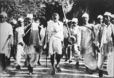 Mahatma Gandhi on Salt March in 1930